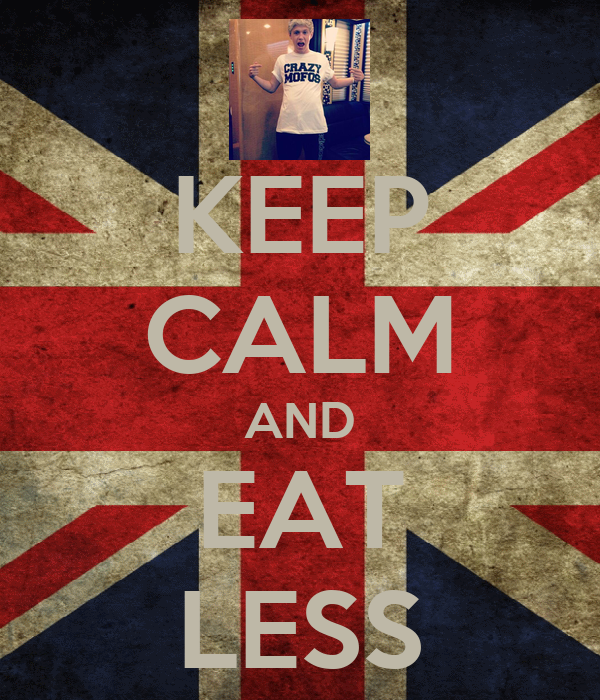 KEEP CALM AND EAT LESS