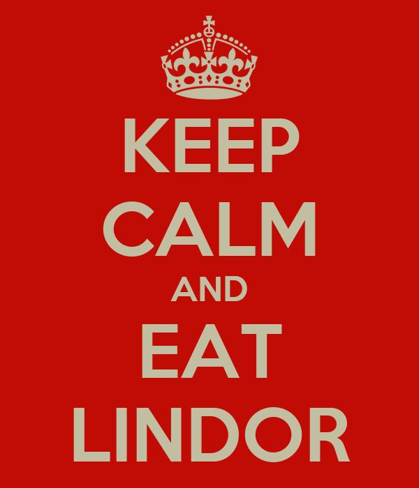 KEEP CALM AND EAT LINDOR