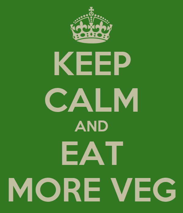 KEEP CALM AND EAT MORE VEG