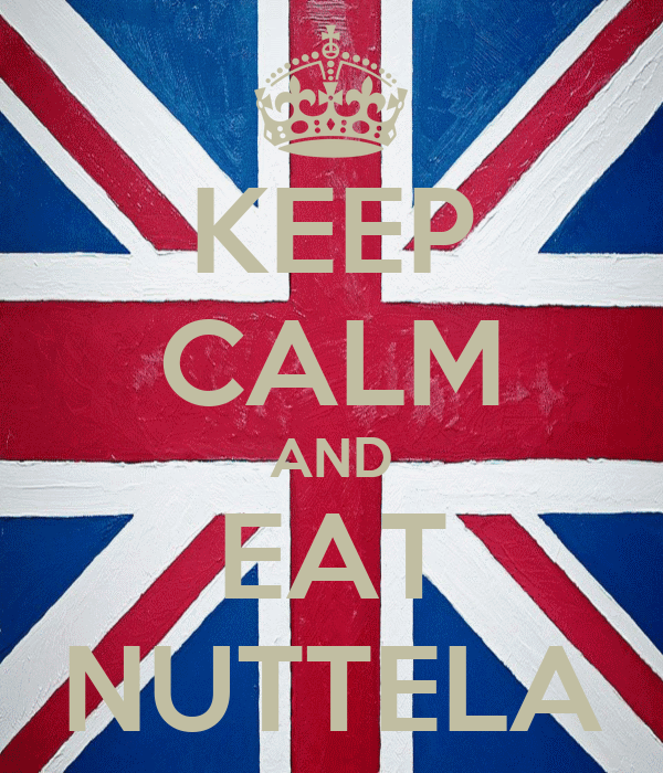 KEEP CALM AND EAT NUTTELA