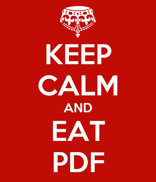 KEEP CALM AND EAT PDF