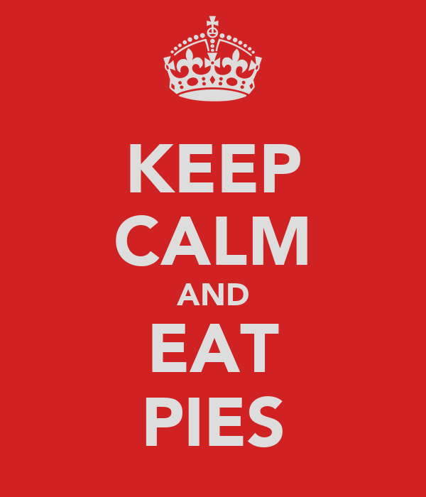 KEEP CALM AND EAT PIES