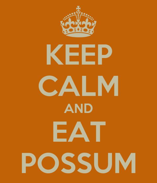 KEEP CALM AND EAT POSSUM