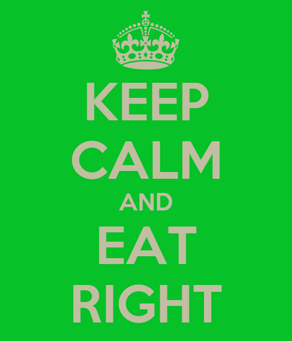 KEEP CALM AND EAT RIGHT