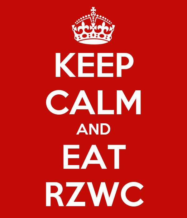 KEEP CALM AND EAT RZWC