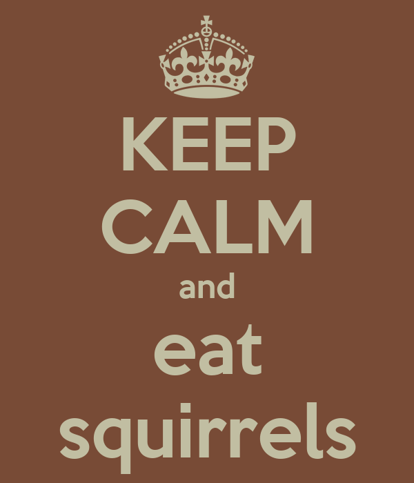 KEEP CALM and eat squirrels