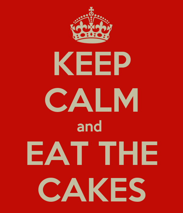 KEEP CALM and  EAT THE CAKES