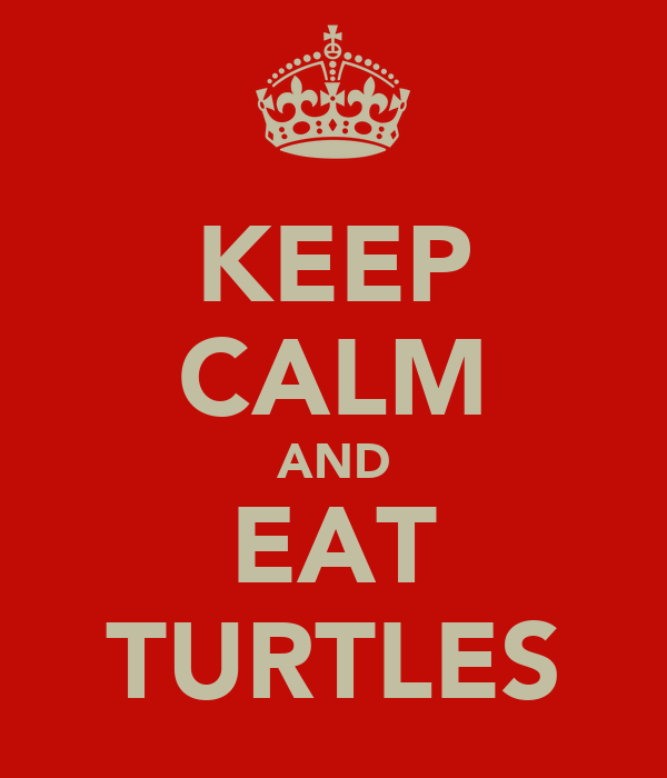 KEEP CALM AND EAT TURTLES