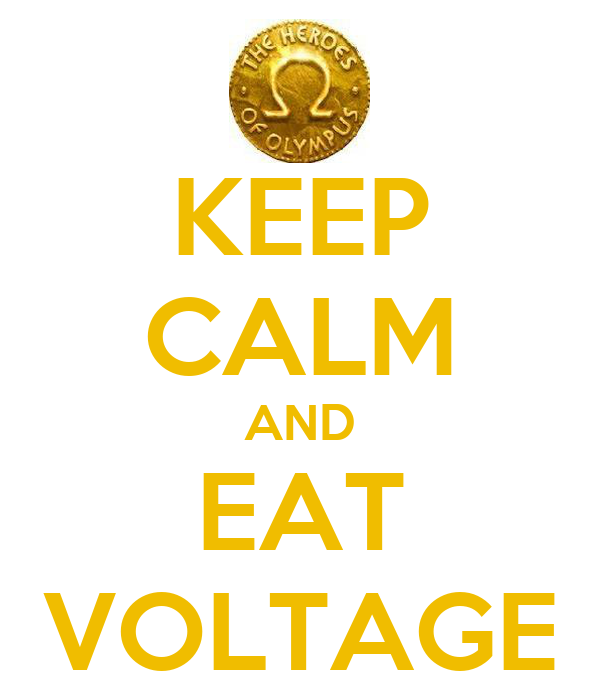 KEEP CALM AND EAT VOLTAGE