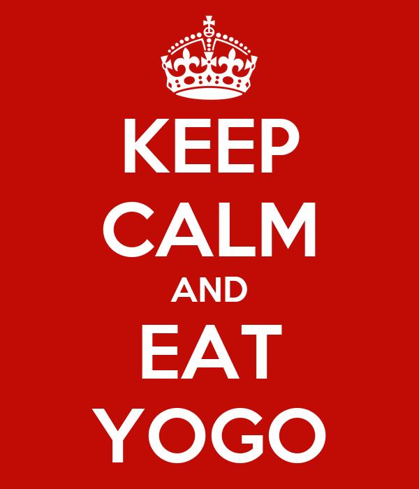KEEP CALM AND EAT YOGO