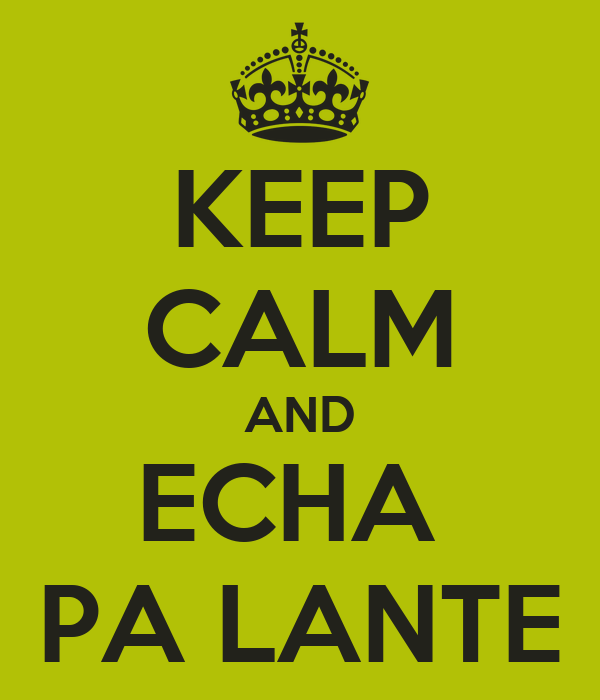 KEEP CALM AND ECHA  PA LANTE