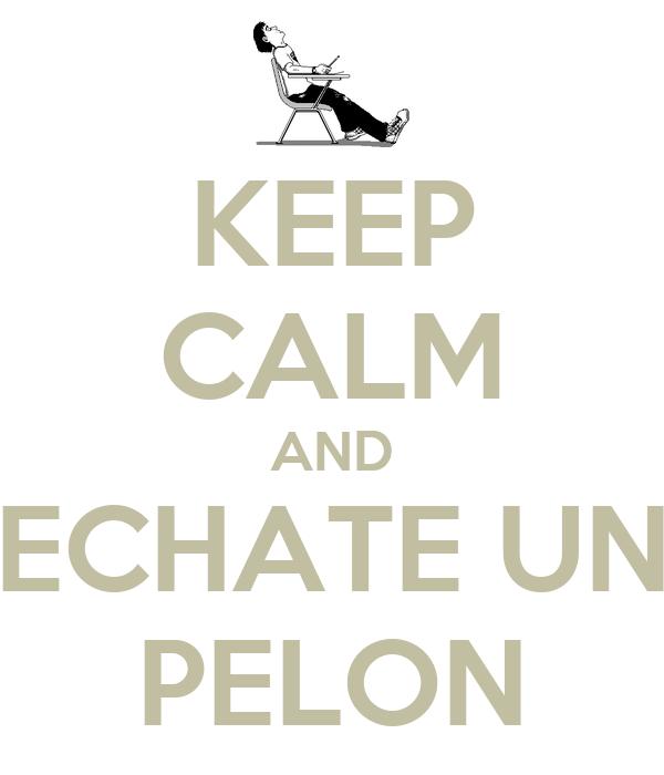 KEEP CALM AND ECHATE UN PELON