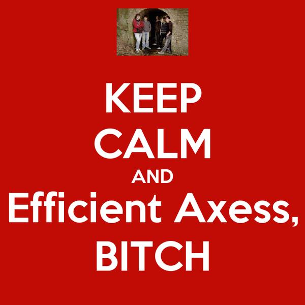 KEEP CALM AND Efficient Axess, BITCH