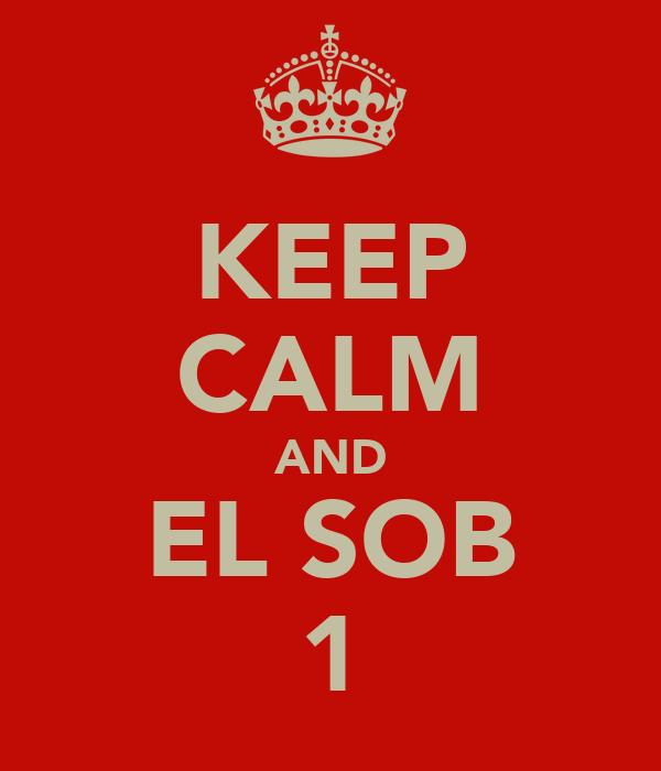 KEEP CALM AND EL SOB 1