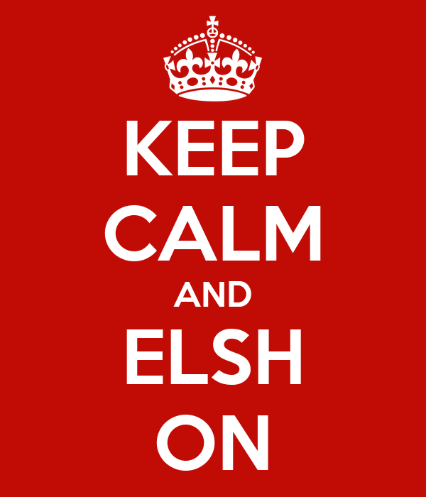 KEEP CALM AND ELSH ON