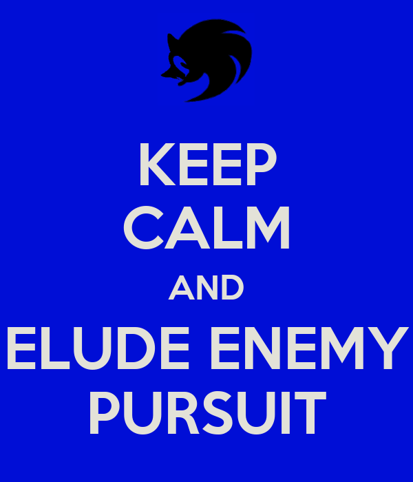 KEEP CALM AND ELUDE ENEMY PURSUIT