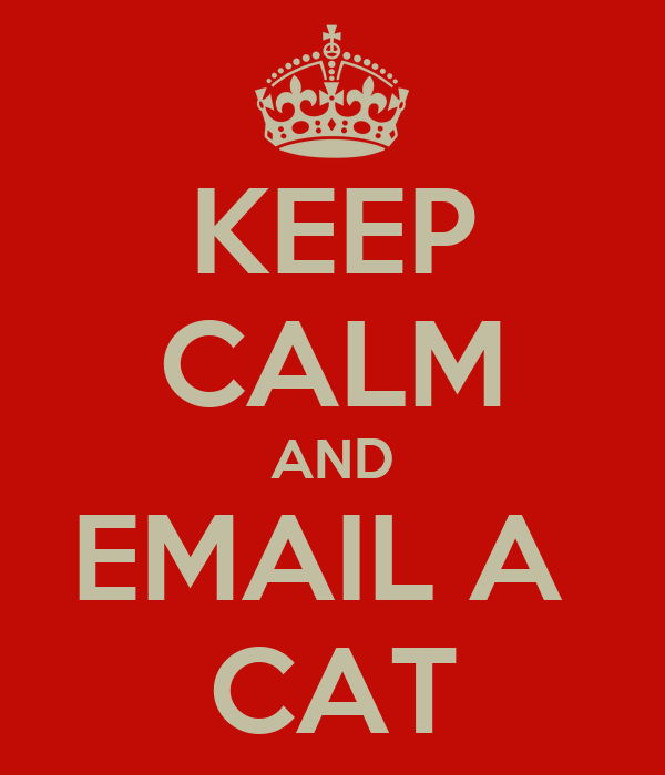 KEEP CALM AND EMAIL A  CAT