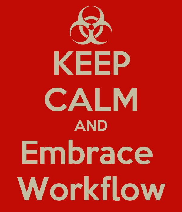 KEEP CALM AND Embrace  Workflow