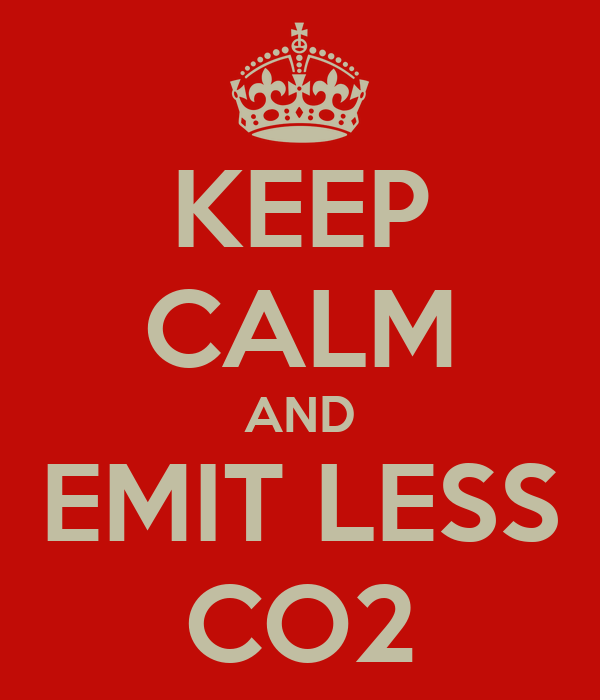 KEEP CALM AND EMIT LESS CO2