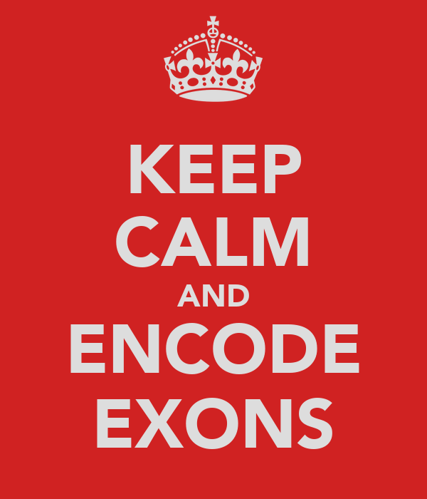 KEEP CALM AND ENCODE EXONS