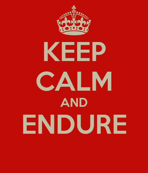 KEEP CALM AND ENDURE