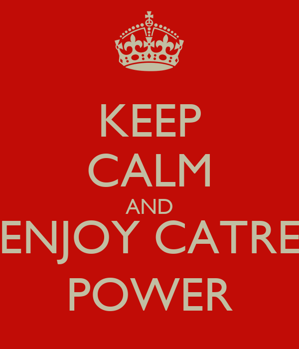 KEEP CALM AND ENJOY CATRE POWER