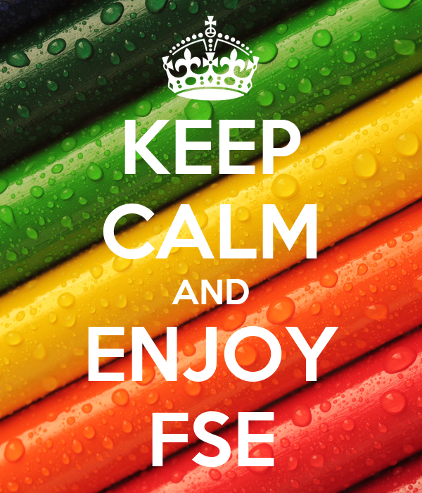 KEEP CALM AND ENJOY FSE
