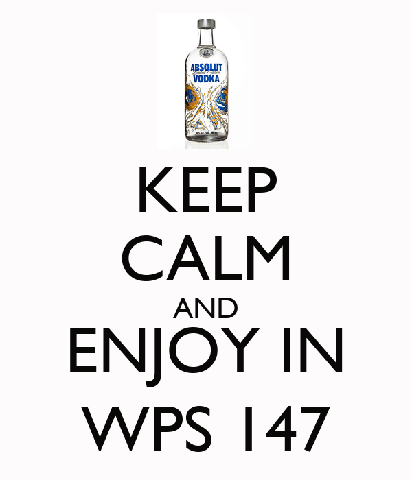 KEEP CALM AND ENJOY IN WPS 147