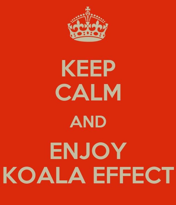 KEEP CALM AND ENJOY KOALA EFFECT