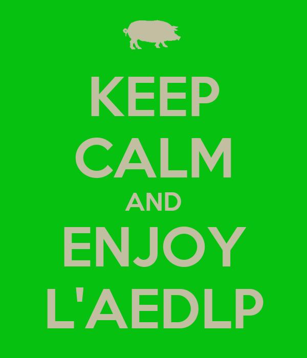 KEEP CALM AND ENJOY L'AEDLP