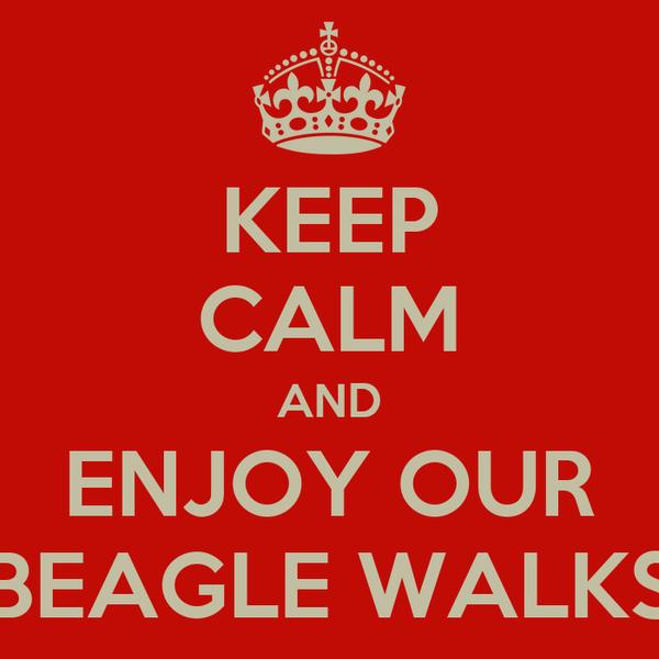 KEEP CALM AND ENJOY OUR BEAGLE WALKS