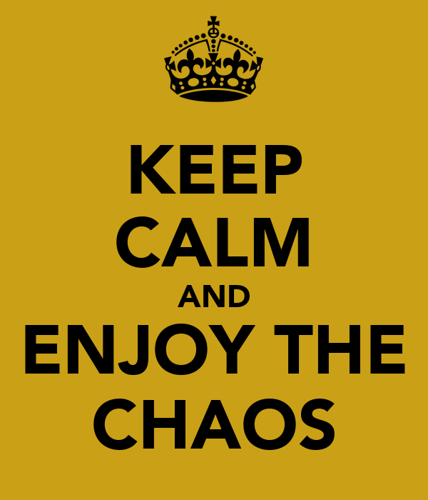 KEEP CALM AND ENJOY THE CHAOS
