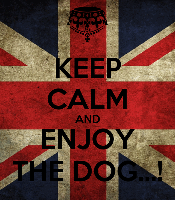 KEEP CALM AND ENJOY THE DOG...!