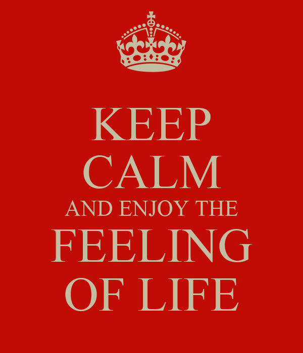 KEEP CALM AND ENJOY THE FEELING OF LIFE