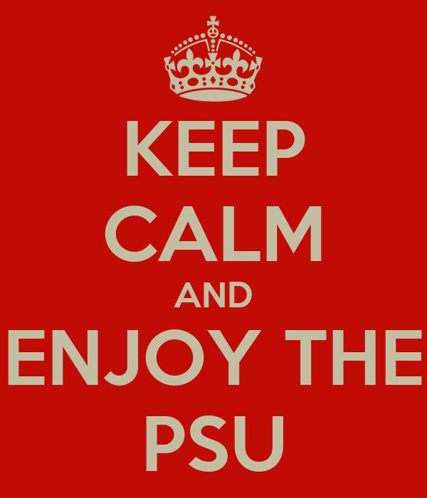 KEEP CALM AND ENJOY THE PSU