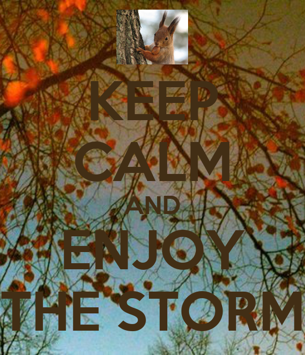 KEEP CALM AND ENJOY THE STORM
