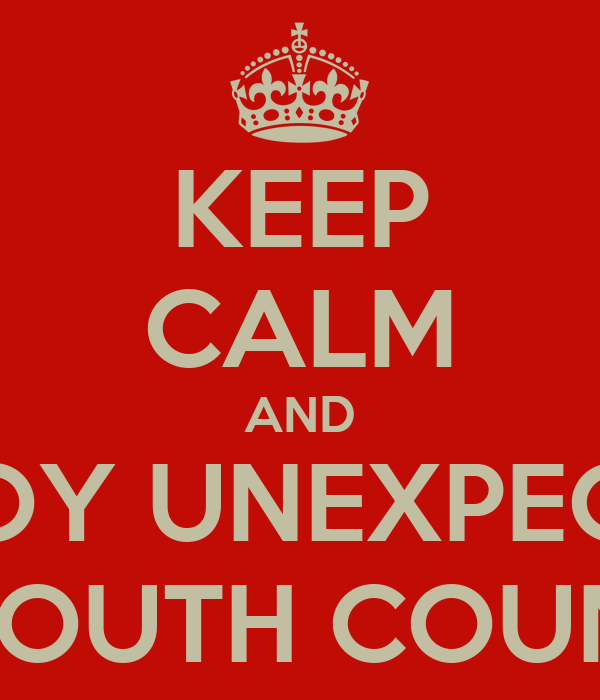 KEEP CALM AND ENJOY UNEXPECTED SW YOUTH COUNCILS