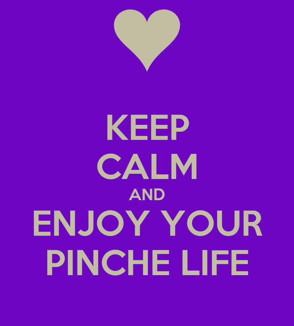 KEEP CALM AND ENJOY YOUR PINCHE LIFE
