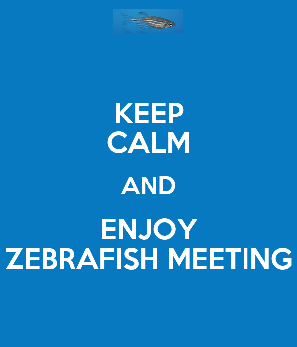KEEP CALM AND ENJOY ZEBRAFISH MEETING