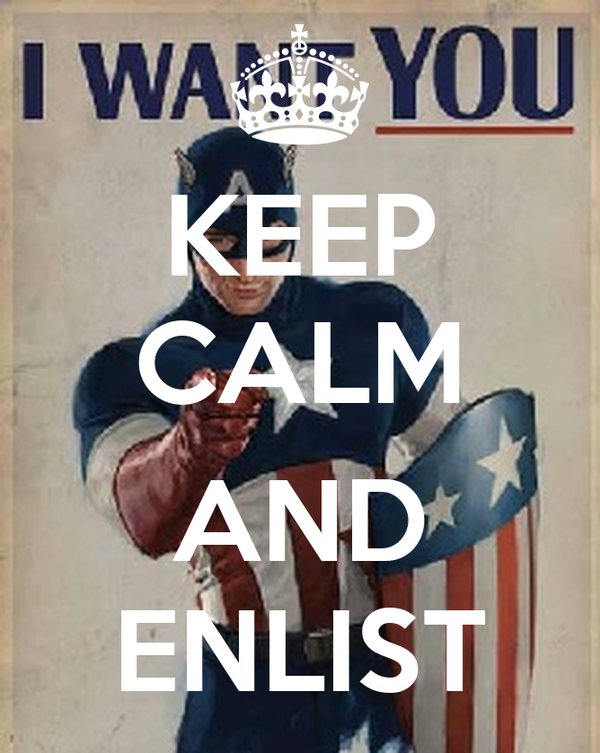 KEEP CALM  AND ENLIST