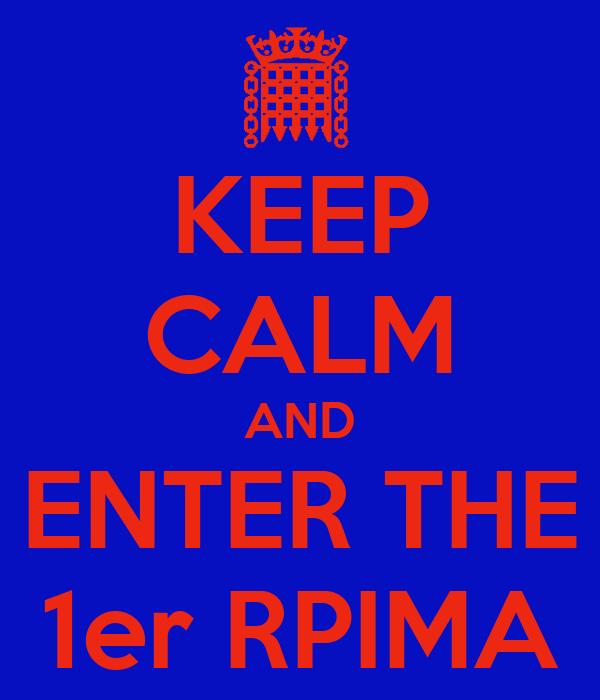 KEEP CALM AND ENTER THE 1er RPIMA