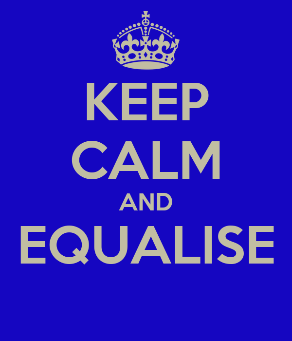 KEEP CALM AND EQUALISE