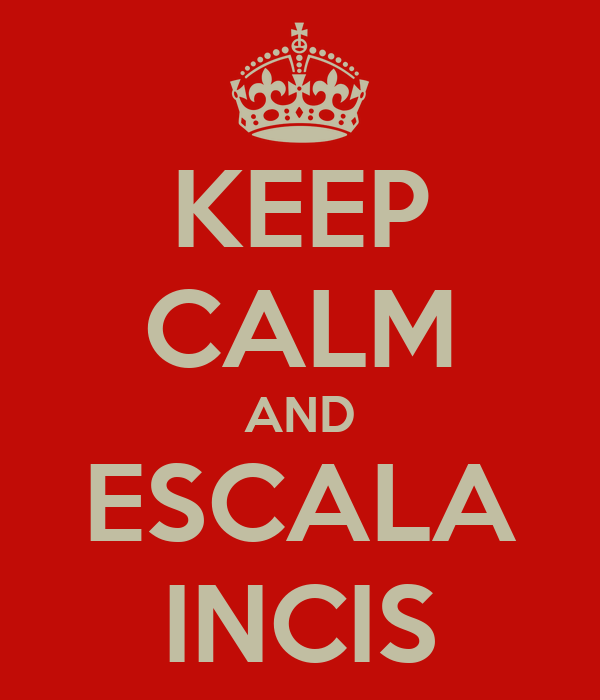 KEEP CALM AND ESCALA INCIS