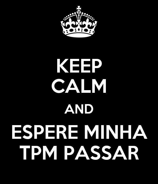 KEEP CALM AND ESPERE MINHA TPM PASSAR