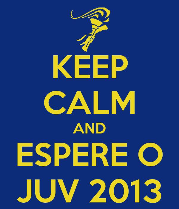 KEEP CALM AND ESPERE O JUV 2013