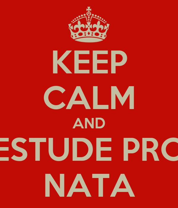 KEEP CALM AND ESTUDE PRO NATA