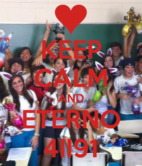 KEEP CALM AND ETERNO 4II91