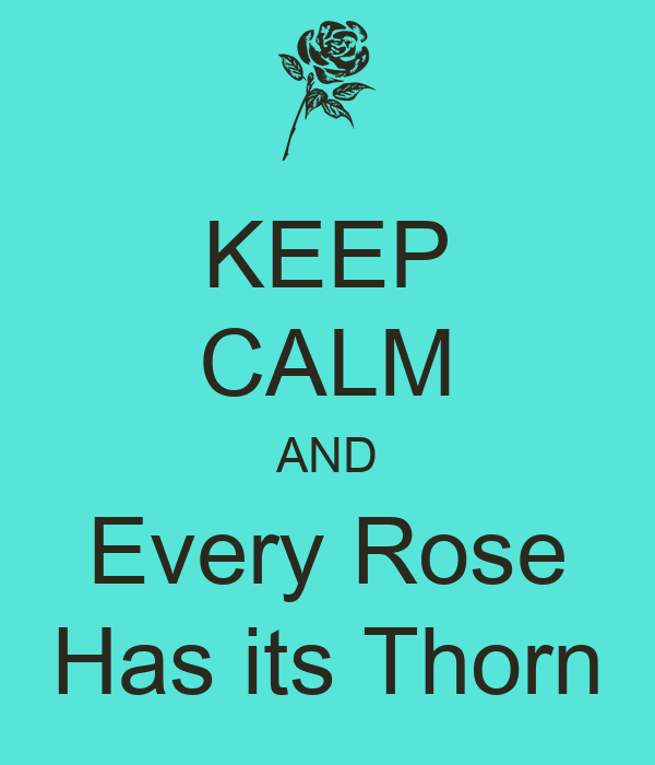 KEEP CALM AND Every Rose Has its Thorn