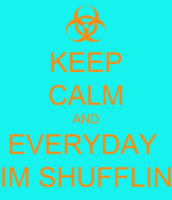 KEEP CALM AND EVERYDAY  IM SHUFFLIN