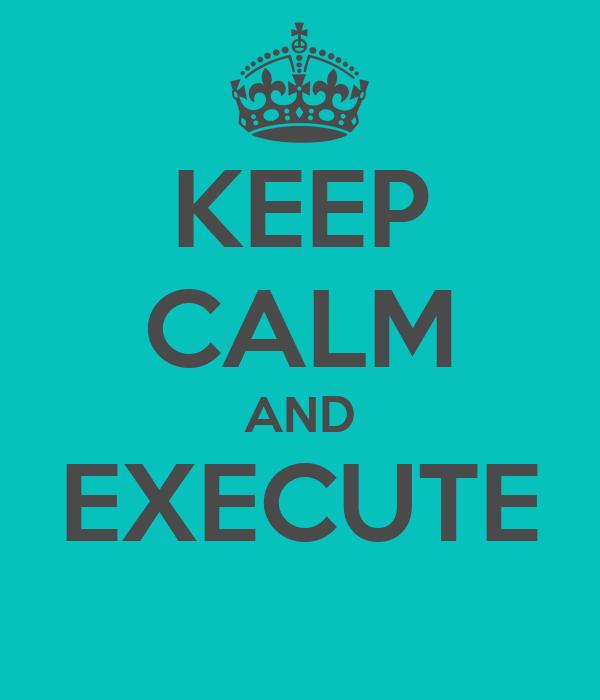 KEEP CALM AND EXECUTE